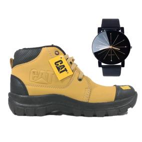 Bota Estilo Cat Amarilla Ocre + Reloj Caballero Montaña