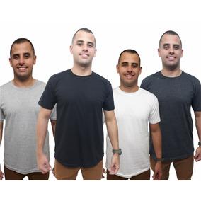 Camisetas Kit 4 Básicas Camisas Combo Original Top Qualidade 6489f4114af9a