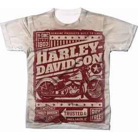 Camisa Camisetas Harley Davidson Blusas Manga Curta 03