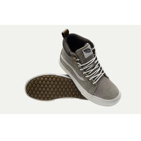 vans de bota grises