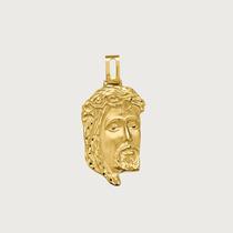Pingente Face De Cristo Em Ouro 18k (750).