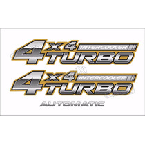 Kit Adesivo Toyota Hilux 4x4 Turbo Intercooler 2006 A 2008