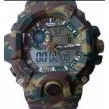 Reloj G-force Verde Militar Camuflado Tactico Varios Usos Or