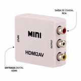 Conversor Hdmi X Rca Av / Vídeo Adaptador 1,8 Metros