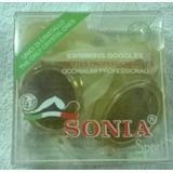 Goggles Para Nadar Sonia - Profesionales/amarillos