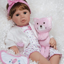 Boneca Reborn Paradise Galleries Real Life Pink Baby