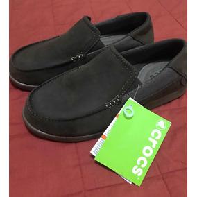 fae5f931fac2 Zapatos Crocs Originales De Cuero Talla 7 (38 39)