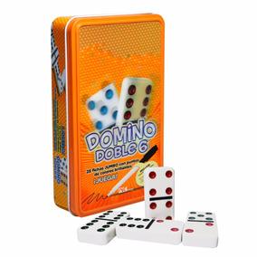 2 Domino Doble 6, Caja Metálica,fichas Jumbo Envio Gratis