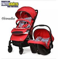 Carrinho System Travel Com Bebê Conforto Importado Até 25kg