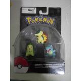 Set Pokemon Tripack Chikorita Cyndaquill Totodile Tommy