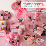 Candy Bar Minnie Mouse, Kit Imprimible, Fiestas, Cumpleaños