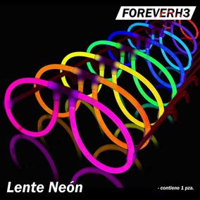 Lentes Fiesta Neon 12 Pza. Luminosos Glow Fluorescentes Boda