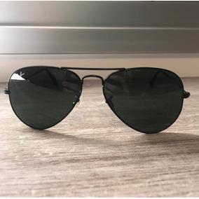 Óculos Sol Rayban Aviador Preto Pequeno