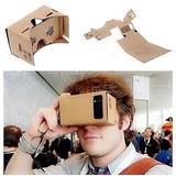 Diy Google Cartón Realidad Virtual Vr 3d Visión Gafas Para