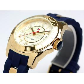 Reloj Tommy Hilfiger 1781307 Original Mujer Azul Con Dorado