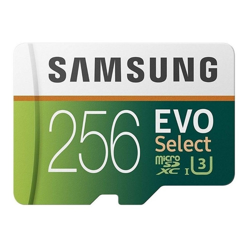 Tarjeta de memoria Samsung MB-ME256GA/AM EVO Select con adaptador SD 256GB