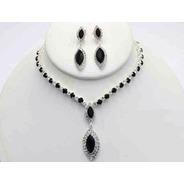 Collar Con Arete Bicolor Cafu435-01 A20