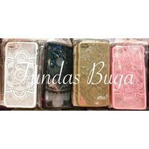 Funda Iphone 7 Plus Mandala Case Protector Rosa Negro Carcas