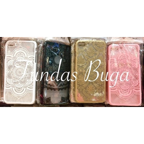 Funda Iphone 7 Plus Mandala Case Protector Rosa Negro Carcas