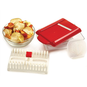 Forma Para Assar Fritar Batatas Chips Com Cortador Fatiador