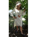 Ropa Artesanal Pintada Mujer Vestido Algodon Pintado A Mano
