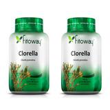 Clorella 400mg Fitoway - 2x 60 Cápsulas