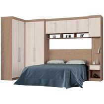 Dormitório Modulado Casal 6 Peças Demóbile C6 Castanho/avelã