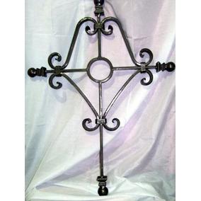 Cruz Grande Decorativa De Hierro Y Forja 82cmx58cm Elegante