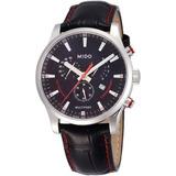 Relógio Mido Multifort M0054171605120 Cronografo Preto Couro