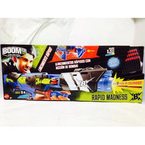 Rifle Boom Co Rapid Madness Mattel 30 Dardos Nuevo Y8618 1a