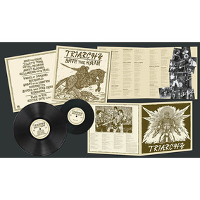Triarchy Save The Khan Lp +compacto Iron Maiden Saxon Virtue