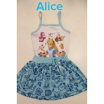 Vestido Fantasia Festa Alice No País Das Maravilhas