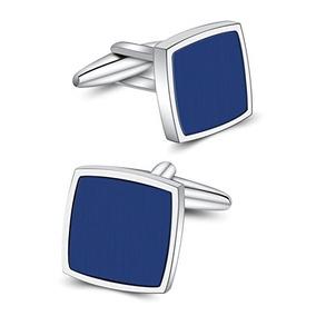 Enlaces Mr.van Azul Onyx Gemelos Gemelos Platinados Conjunto