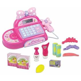 Brinquedo Caixa Registradora Infantil Menina Rosa Fenix