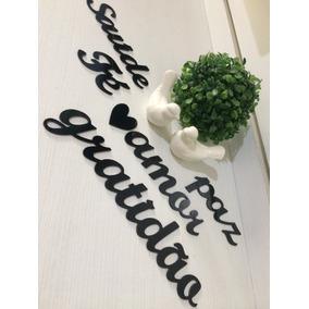 Palavras Decorativas Para Parede Amor Gratidão Fé Saúde Paz.