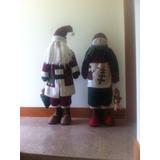 Monos De Trapo. Santa Y Snow Man. 1.30 De Alto. Como Nuevos