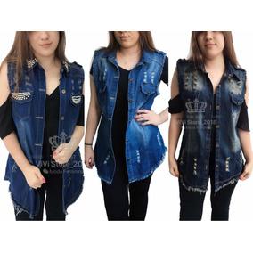 1963413f4f Conjunto Jeans Feminino Atacado - Coletes no Mercado Livre Brasil