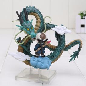Bonecos Dragonball Shenlong E Son Goku Originais Na Caixa