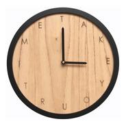 Reloj De Pared Minimalista #6 Fondo Paraiso Marco Negro