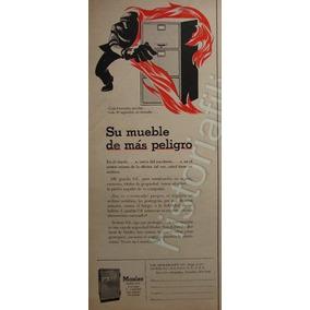 Publicidad Antigua Caja Fuerte Mosler 1953