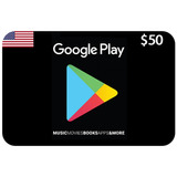 Google Play Tarjeta 50 Usd Card Usa