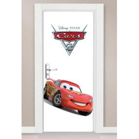 Adesivo Parede Porta Infantil Relampago Mcqueen Cars Disney