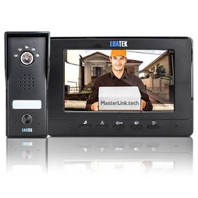 Vídeo Porteiro Eletrônico Câmera Visão Noturna Tela 7 Pol.