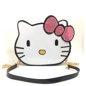Bolsa Feminina Divertida Gato Hello Kitty Alça Corrente