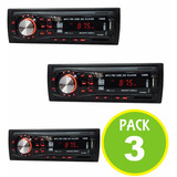 Pack 3 Radio Auto Fm Mp3 Usb Sd Aux 200w 01482-36907/ Fernap