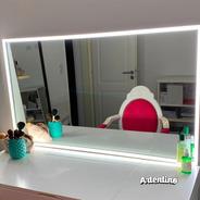 Espejo Luz Led Sensor Touch Dimmer Maquillaje Pared Deco