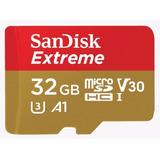 Cartão Micro Sd Extreme 32gb 100mb/s Xperia Milestone Galaxy