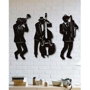 Quadro Decorativo Parede Música Jazz Banda 90cm
