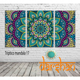 Cuadros Tripticos Mandalas Meditacion Ganesha Unicos! 1x50cm