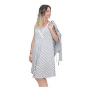 Camison Maternal Para Amamantar Con Saco Manga Larga 20642